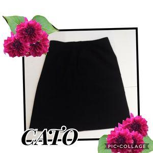 CATO BLACK MIDI SKIRT WOMEN'S SIZE 12